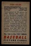 1951 Bowman #166  Stan Rojek  Back Thumbnail