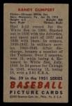 1951 Bowman #59  Randy Gumpert  Back Thumbnail
