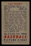 1951 Bowman #5  Dale Mitchell  Back Thumbnail