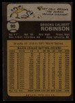 1973 Topps #90  Brooks Robinson  Back Thumbnail
