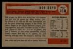 1954 Bowman #118  Bob Boyd  Back Thumbnail
