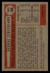1954 Bowman #36  George Strickland  Back Thumbnail