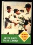 1963 Topps #145   -  Chuck Hiller 1962 World Series - Game #4 - Hiller Blasts Grand Slammer Front Thumbnail