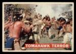 1956 Topps Davy Crockett #17 ORG  -     Tomahawk Terror  Front Thumbnail