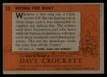 1956 Topps Davy Crockett #15 ORG  Biting the Dust  Back Thumbnail