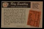 1955 Bowman #252  Roy Smalley  Back Thumbnail
