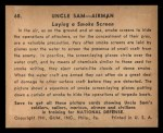 1941 Gum Inc. Uncle Sam Home Defense #68   Laying Smoke Screen Back Thumbnail