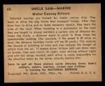 1941 Gum Inc. Uncle Sam Home Defense #62   Motor Convoy Drivers Back Thumbnail