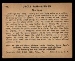 1941 Gum Inc. Uncle Sam Home Defense #91   The Loop Back Thumbnail