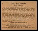 1941 Gum Inc. Uncle Sam Home Defense #8   Field Artillery Back Thumbnail
