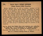 1941 Gum Inc. Uncle Sam Home Defense #105   Home Guard Rifle Practice Back Thumbnail
