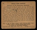 1941 Gum Inc. Uncle Sam Home Defense #32   Gunners At Secondary Batteries Back Thumbnail
