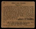 1941 Gum Inc. Uncle Sam Home Defense #49   Digging In Back Thumbnail