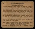 1941 Gum Inc. Uncle Sam Home Defense #50   Barbed Wire Tactics Back Thumbnail