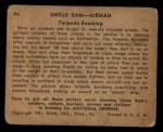1941 Gum Inc. Uncle Sam Home Defense #46   Torpedo Bombing Back Thumbnail