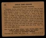 1941 Gum Inc. Uncle Sam Home Defense #58   Submarine Torpedo Practice Back Thumbnail
