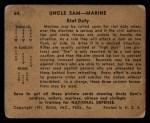 1941 Gum Inc. Uncle Sam Home Defense #64   Riot Duty Back Thumbnail