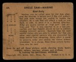 1941 Gum Inc. Uncle Sam Home Defense #64   Riot Duty Back Thumbnail