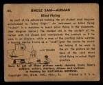 1941 Gum Inc. Uncle Sam Home Defense #44   Blind Flying Back Thumbnail
