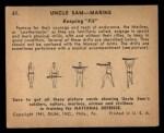 1941 Gum Inc. Uncle Sam Home Defense #61   Keeping Fit Back Thumbnail