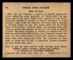 1941 Gum Inc. Uncle Sam Home Defense #24   War At Sea Back Thumbnail