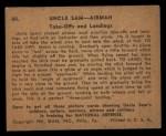 1941 Gum Inc. Uncle Sam Home Defense #40   Take-Offs And Landings Back Thumbnail