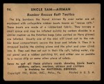 1941 Gum Inc. Uncle Sam Home Defense #94   Bomber Rescue Raft Tactics Back Thumbnail