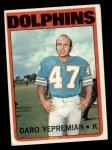1972 Topps #115  Garo Yepremian  Front Thumbnail
