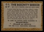 1958 Topps TV Westerns #23   The Bounty Seeker  Back Thumbnail