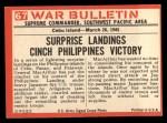 1965 Philadelphia War Bulletin #67   Squeeze Play Back Thumbnail