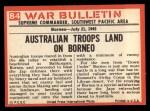 1965 Philadelphia War Bulletin #84   Aussies Wade In Back Thumbnail