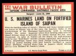 1965 Philadelphia War Bulletin #46   Crawling Ashore Back Thumbnail