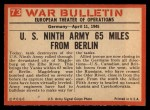 1965 Philadelphia War Bulletin #73   Ghost Town 1945 Back Thumbnail