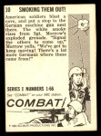 1964 Donruss Combat #10   Smoking Them Out! Back Thumbnail
