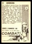 1964 Donruss Combat #15   Advancing Back Thumbnail