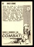 1964 Donruss Combat #63   Back Home Back Thumbnail