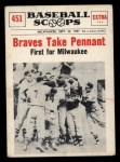 1961 Nu-Card Scoops #451   Take Pennant   Front Thumbnail