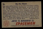 1951 Bowman Jets Rockets and Spacemen #15   On the Moon Back Thumbnail