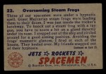1951 Bowman Jets Rockets and Spacemen #22   Overcoming Steam Frogs Back Thumbnail