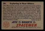 1951 Bowman Jets Rockets and Spacemen #26   Exploring in Heat Gliders Back Thumbnail