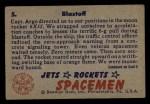 1951 Bowman Jets Rockets and Spacemen #5   Blastoff Back Thumbnail
