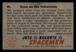 1951 Bowman Jets Rockets and Spacemen #51   Seen on the Telescreen Back Thumbnail