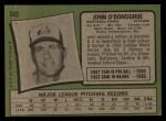 1971 Topps #743  John O'Donoghue  Back Thumbnail