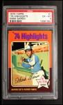 1975 Topps #1   -  Hank Aaron Aaron Sets Homer Mark Front Thumbnail