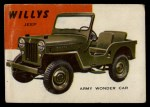 1954 Topps World on Wheels #33   Willy's Jeep Front Thumbnail