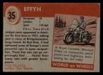 1954 Topps World on Wheels #35   Effyh Back Thumbnail