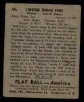 1939 Play Ball #60  School Boy Rowe  Back Thumbnail