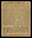 1935 Diamond Stars #26  Pepper Martin   Back Thumbnail