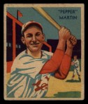 1935 Diamond Stars #26  Pepper Martin   Front Thumbnail