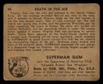 1940 Gum Inc. Superman #48   Death in the Air Back Thumbnail